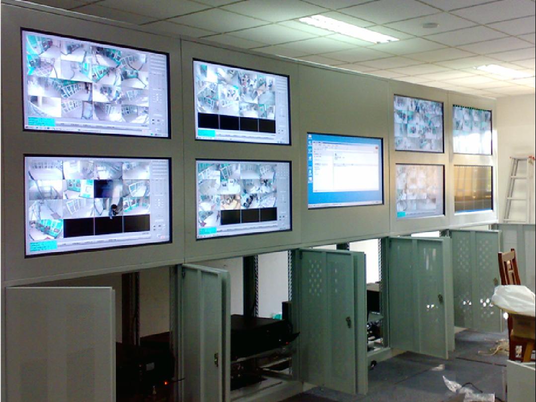 农行上海分行ATM监控室